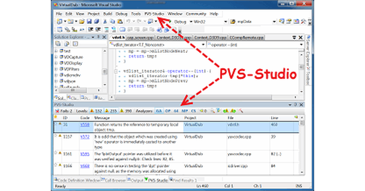 PVS-Studio for Visual C++ (outdated article)