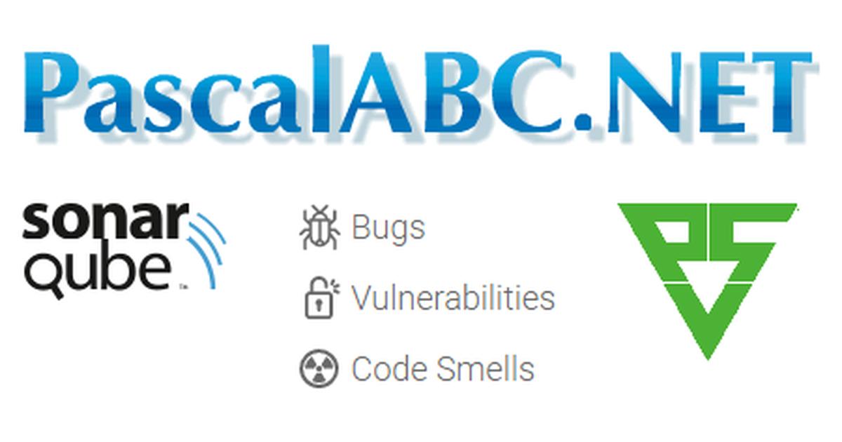 Analysis of PascalABC NET using SonarQube plugins: SonarC