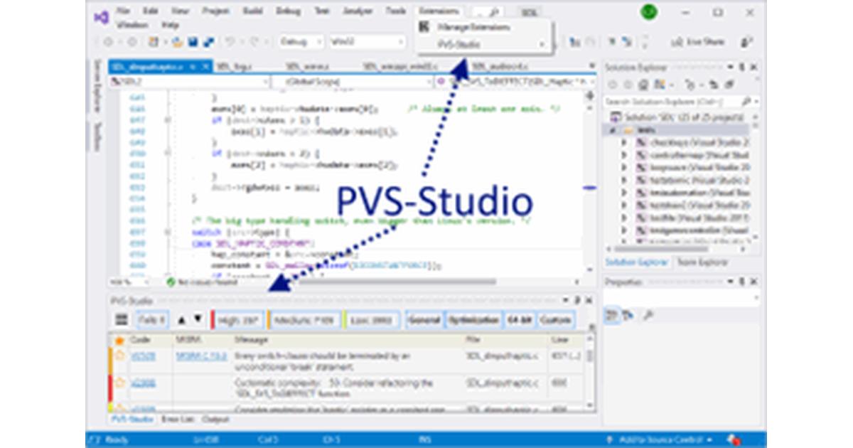 PVS-Studio for Visual Studio